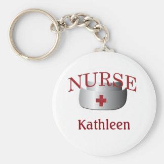 Krankenschwester-Namen-Krankenschwester-Knopf Schlüsselanhänger