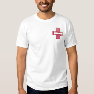 Krankenschwester-Namenstropfen Besticktes T-Shirt