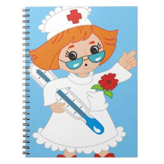 Krankenschwester-Notizbuch Spiral Notizblock
