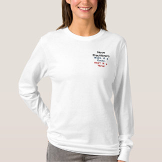 Krankenschwester-Praktiker Besticktes Langarmshirt