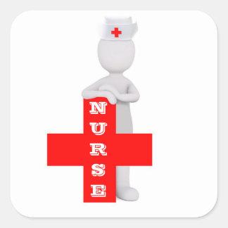 Krankenschwester Quadratischer Aufkleber