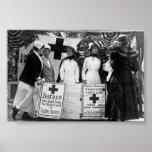 Krankenschwester-Rekrutierungs-Stations-Erster Wel Plakatdrucke