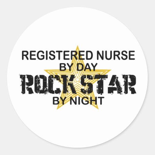 Krankenschwester-Rockstar bis zum Nacht Sticker