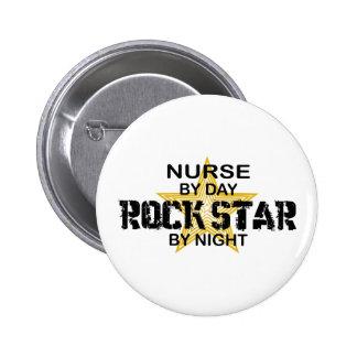Krankenschwester-Rockstar bis zum Nacht Runder Button 5,1 Cm