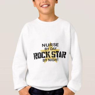 Krankenschwester-Rockstar bis zum Nacht Sweatshirt