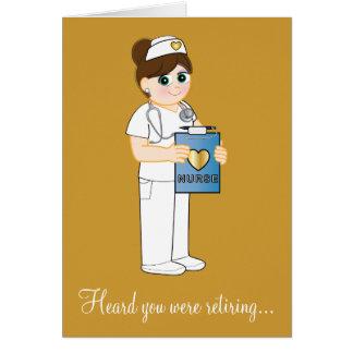 Krankenschwester-Ruhestand Karte