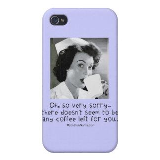Krankenschwester - so sehr traurig… kein Kaffee iPhone 4/4S Hülle