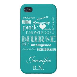 Krankenschwester Stolz-Attribute/Türkis iPhone 4/4S Cover
