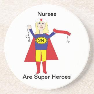 Krankenschwester-Superhelder (blond) Untersetzer
