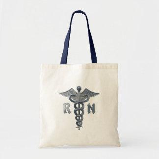 Krankenschwester-Symbol Budget Stoffbeutel