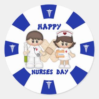 Krankenschwester-Tagesklassischer runder Runder Aufkleber