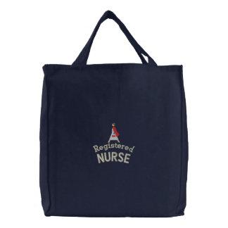 Krankenschwester-Tasche Bestickte Einkaufstaschen