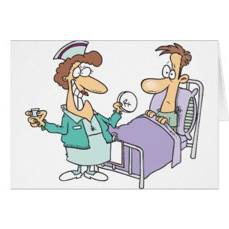 Krankenschwester-und Patienten-Gruß-Karten Grußkarte