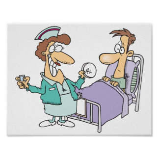 Krankenschwester-und Patienten-Plakat Poster