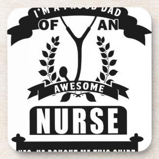 Krankenschwester und Vati Getränkeuntersetzer