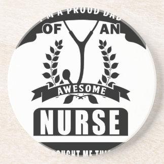 Krankenschwester und Vati Sandstein Untersetzer