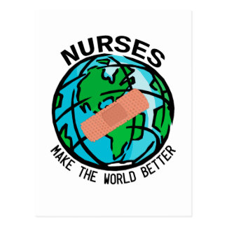Krankenschwester-Weltpostkarte Postkarte