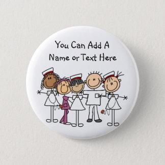 Krankenschwester-Wochen-T - Shirts und Geschenke Runder Button 5,7 Cm