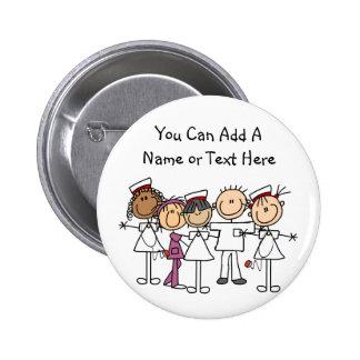 Krankenschwester-Wochen-T-Shirts und Geschenke Runder Button 5,7 Cm