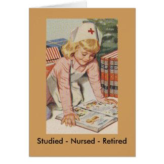 Krankenschwester-Zurückziehen - so Retro Karte