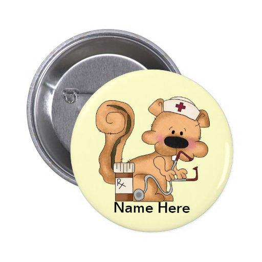 Krankenschwestereichhörnchen Knopf Anstecknadel