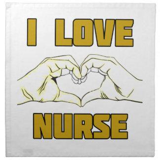 Krankenschwesterentwurf Stoffserviette