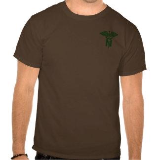 Krankenschwestergrüner Caduceus - Tasche Hemd