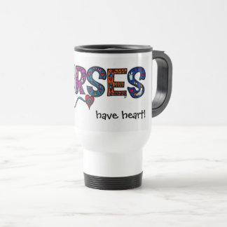 Krankenschwestern haben Herzreise-Tasse Reisebecher