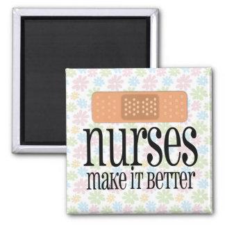 Krankenschwestern machen es besser, Verband Quadratischer Magnet
