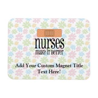 Krankenschwestern machen es besser, Verband Vinyl Magnete