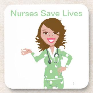 Krankenschwestern retten die Leben Getränk Untersetzer