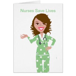 Krankenschwestern retten die Leben Karte