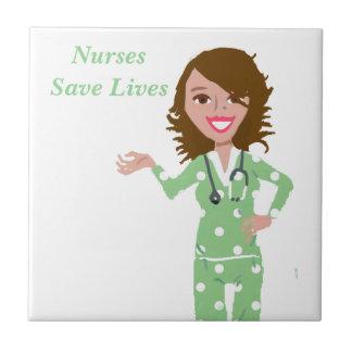 Krankenschwestern retten die Leben Keramikfliese