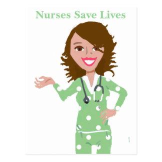Krankenschwestern retten die Leben Postkarte