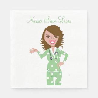 Krankenschwestern retten Leben Serviette