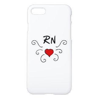 Krankenschwestern RN-Liebe-Tätowierung iPhone 8/7 Hülle
