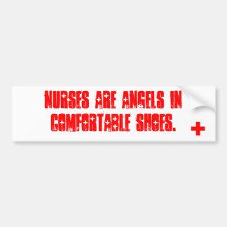 Krankenschwestern sind Engel in den bequemen Autoaufkleber
