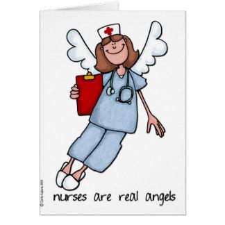 Krankenschwestern sind wirkliche Engel Karte