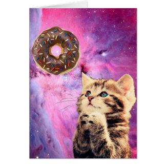 Krapfen-betende Katze Karte