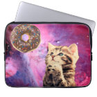 Krapfen-betende Katze Laptopschutzhülle