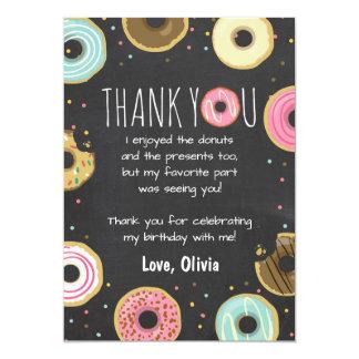 Krapfen-Geburtstag danken Ihnen, rosa Karte