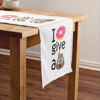 Krapfen I geben ein gekackte emoji Kurzer Tischläufer