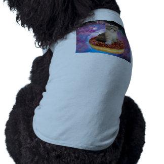 Krapfen Katzekatze Raum-Miezekatze-niedliches Shirt