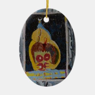 Krapfen Keramik Ornament