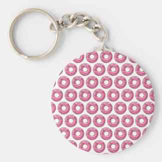 Krapfen mit rosa Zuckerglasur Schlüsselanhänger