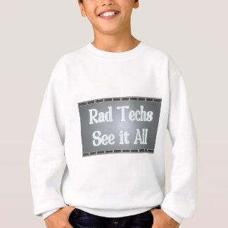 Krasse Techs sehen es aller (Röntgenstrahl-Film) Sweatshirt