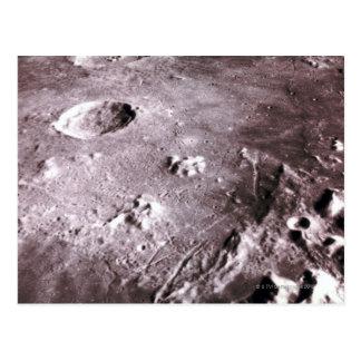 Krater auf dem Mond Postkarte
