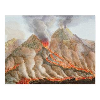 Krater vom Vesuv von einem ursprünglichen Zeichnen Postkarten