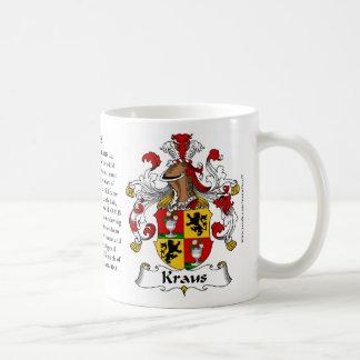 Kraus, der Ursprung, die Bedeutung und das Wappen Kaffeetasse