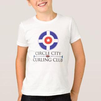 Kräuselnde Kreis-Stadt - der Wecker-T - Shirt des